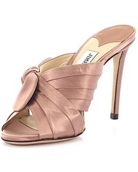 Jimmy choo Sandals Mules Kelly 100 rose satin Outlet Latest Collections IJ4j2CmxD7