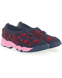 Dior | Trainers Slip On Fusion Mesh Marine Sequins Red Flower Pattern | Lyst