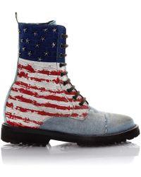 Philipp Plein - Boots I Love America Denim Blue Usa Embossement - Lyst