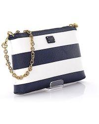 Dolce & Gabbana | Hand Bag Micro Bag Cross Body Fabric-mix Stripes Blue White | Lyst