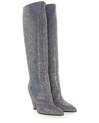 Giampaolo Viozzi - Boots Luna Fabric Silver Rainbow Glitter Effect - Lyst