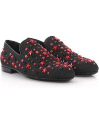 Sloane star-embellished suede loafers Jimmy Choo London KFkQcFS4Pi