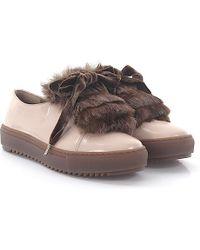 Agl Attilio Giusti Leombruni - Trainers D930006 Leather Brown Fur Velvet Lace - Lyst