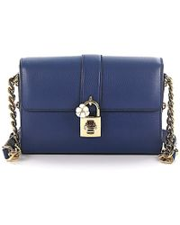 Dolce   Gabbana - Shoulder Bag Leather Blue Embossed Blu Marino - Lyst 1b1be3736a02e