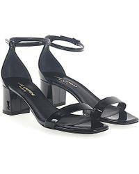 Saint Laurent | Sandals Loulou 50 Patent Leather Black | Lyst