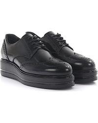 Hogan | Lace-up Shoes H323 Francesina Leather Black | Lyst