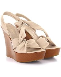 Gianvito Rossi | Sandals Ge3154 Leather Beige | Lyst