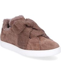 Unützer - Low-top Sneakers 8518 Suede Ribbon Taupe - Lyst