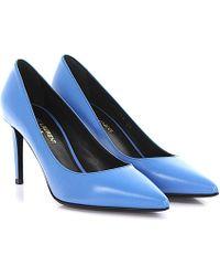Saint Laurent - Pumps Paris Leather Blue - Lyst