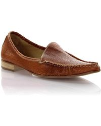 Henry Beguelin - Mokassin Leather Brown Used - Lyst