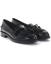 Tod's - Loafer 0v060s Leather Black Frays - Lyst