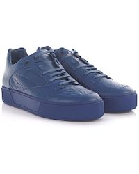 Balenciaga - Sneakers Arena Low Leder blau crinkled - Lyst