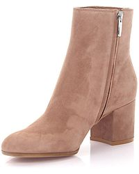 Gianvito Rossi Boots MARGAUX MID BOOTIE suede brown McpxmQbCA8