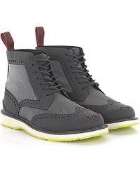 Swims - Boots Full Brogue Barry Brogue High Gum Hightech-jersey Grey - Lyst