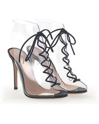 Gianvito Rossi - Ankle Boots Helmut Nappa Leather Pvc Black Transparent - Lyst
