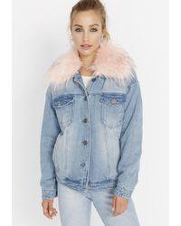 Buffalo David Bitton - Jacket W/ Fur Collar - Lyst