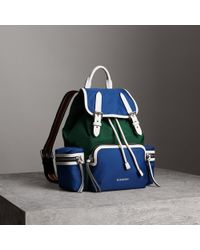 Burberry - The Medium Rucksack In Colour Block Nylon And Leather - Lyst