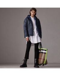 Burberry - Reversible Diamond Quilted Hooded Jacket - Lyst
