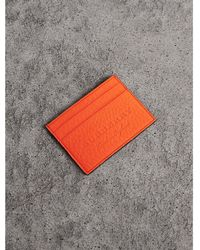 Burberry - Embossed Textured Leather Card Case - Lyst