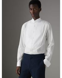 Burberry - Modern Fit Panelled Bib Cotton Silk Evening Shirt - Lyst