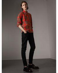 Burberry - Skinny Fit Brushed Stretch Denim Jeans - Lyst