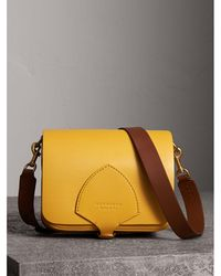 Burberry - The Square Satchel In Leather - Lyst