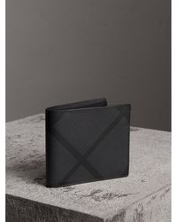 Burberry - London Check Id Wallet - Lyst