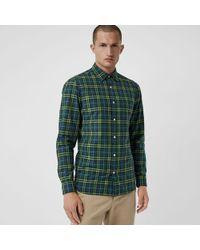 Burberry - Check Cotton Shirt - Lyst
