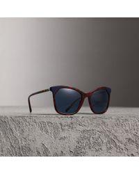 Burberry - Tortoiseshell Square Frame Sunglasses - Lyst