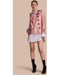 burberry trench outlet l1r2  Burberry  Showerproof Trench Coat Antique Rose  Lyst