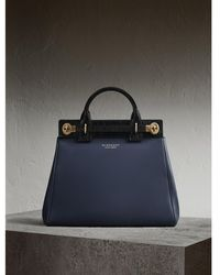Burberry - The Dk88 Luggage Bag With Alligator - Lyst