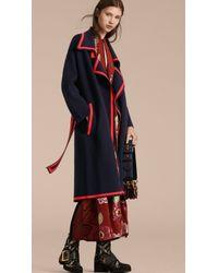 Burberry - Stretch Wool Cashmere Wrap Cardigan Coat - Lyst