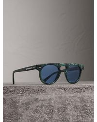Burberry - The Keyhole Round Frame Sunglasses - Lyst