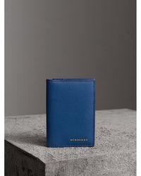 Burberry - London Leather Folding Card Case - Lyst