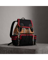 Burberry - The Large Rucksack In Vintage Check And Leather - Lyst