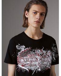 Burberry - Doodle Print Cotton T-shirt - Lyst