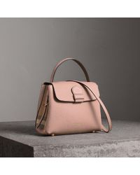 4396ea797874 Burberry Medium London Grainy Leather Bowling Bag in Brown - Lyst