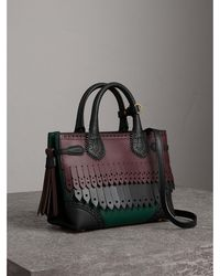 Burberry - The Small Banner In Brogue Detail Leather - Lyst