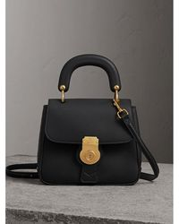 Burberry - The Small Dk88 Top Handle Bag In Black | - Lyst