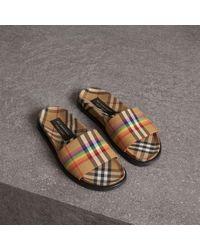 Burberry - Rainbow Vintage Check Slides - Lyst
