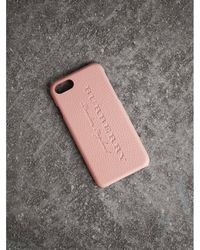Burberry - London Leather Iphone 7 Case - Lyst