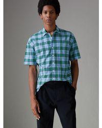 Burberry - Short-sleeve Check Cotton Shirt - Lyst