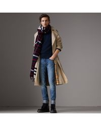 Burberry - Slim Fit Washed Japanese Selvedge Denim Jeans - Lyst