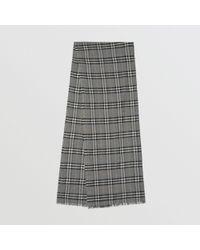 Burberry - Écharpe en laine et soie mélangées à motif Vintage check métallisé - Lyst