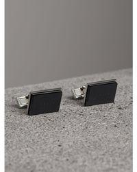 Burberry - Engraved Enamel Cufflinks - Lyst