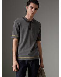 Burberry - Poloshirt aus Baumwolljersey mit Streifendetails - Lyst