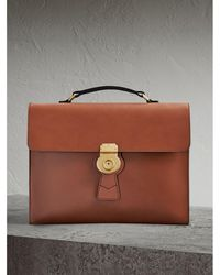 Burberry - The Large Dk88 Document Case Tan - Lyst