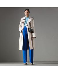 Burberry - Heritage Stripe Cotton Gabardine Trench Coat - Lyst
