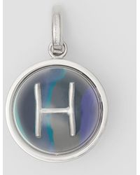 Burberry - Marbled Resin 'h' Alphabet Charm - Lyst