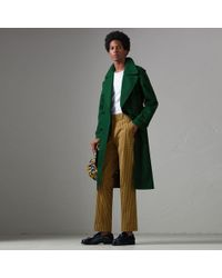 Burberry - Check Washed Cotton Trousers - Lyst
